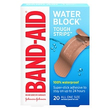 Band-Aid Tough-Strips Waterproof Bandages