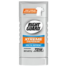 Right Guard Total Defense 5 PowerStripe, Antiperspirant & Deodorant Invisible Solid Arctic Refresh