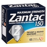 Zantac 150 150 Acid Reducer Tablets