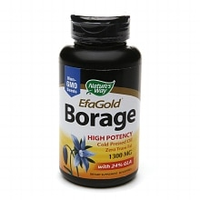 EFA Gold Borage, 1300mg, Softgels