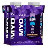 EAS Myoplex Myoplex Original Protein Supplement Shakes 4 Pack Chocolate Fudge