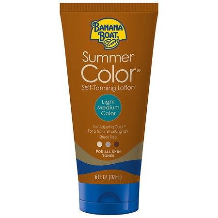 Banana Boat Sunless Summer Color Self Tanning Lotion, Light to Medium