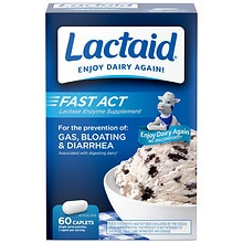 Lactaid Fast Act Fast Act Lactase Enzyme Supplement Caplets Vanilla