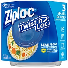 Ziploc Twist 'n Loc Containers Small 2 Cup