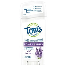 Tom's of Maine Long Lasting Natural Aluminum Free Deodorant Stick Lavender