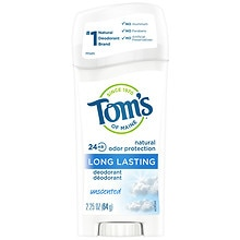 Tom's of Maine Long Lasting Deodorant Stick Unscented