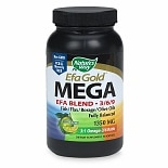 Nature's Way Maximum Strength Mega 3/6/9 Omega Blend 1350 mg Dietary Supplement Softgels