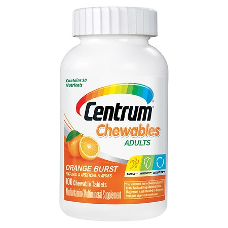 Centrum Chewables Multivitamin/Multimineral Supplement, Tablets Orange