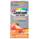 Centrum Silver Chewables Multivitamin and Multimineral, Chewable Tablets Citrus Berry