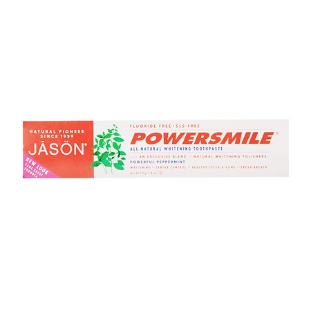 JASON Power Smile All Natural Whitening Toothpaste Peppermint