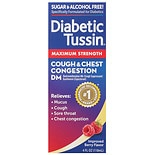 Diabetic Tussin DM Cough Suppressant & Expectorant Liquid