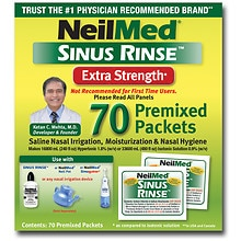 Sinus Rinse Saline Nasal Rinse Premixed Packets, Exta Strength