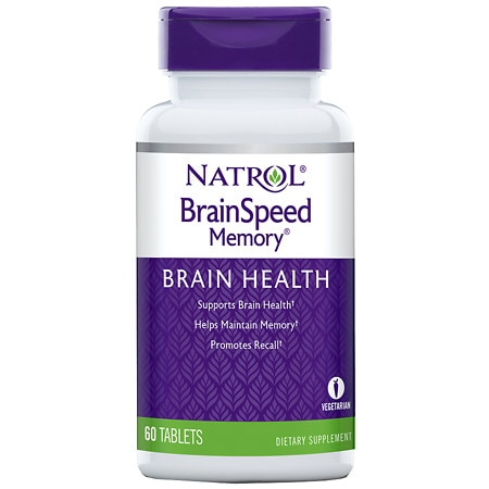 Natrol Brain Speed Memory Dietary Supplement Tablets