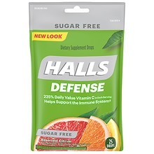 Defense Sugar Free Vitamin C Drops, Assorted Citrus Flavors