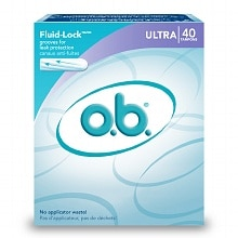 o.b. Non-Applicator Tampons, Value Pack Ultra Absorbency
