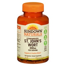 Sundown Naturals St. John's Wort 300 mg Herbal Supplement Capsules