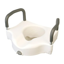Medline Elevated Toilet Seat with Lock and Arms