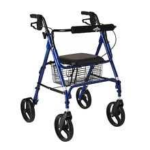4-Wheel Rollator Walker, Blue