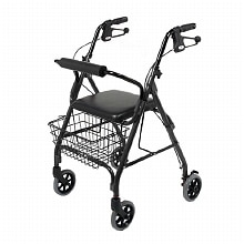 4 Wheel Rolling Walker with Shopping Basket, Padded