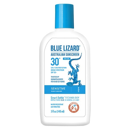 Blue Lizard Australian Sunscreen, Sensitive, SPF 30+