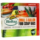 BioBag Small Food Scrap Bags 3 Gallon