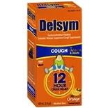 Delsym 12 Hour Cough Suppressant Liquid Orange Flavored Liquid