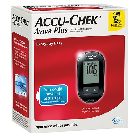 Accu-Chek Aviva Diabetes Monitoring Kit 1ea. Health Fitness Skin Care Beauty Supply Deals