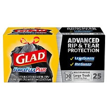 Glad Force Flex Forceflex Drawstring Trash-Garbage Bags Extra Strong