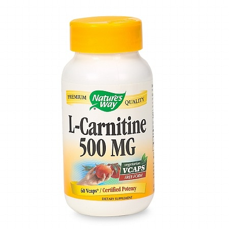 Nature's Way L-Carnitine 500 mg Dietary Supplement Vcaps
