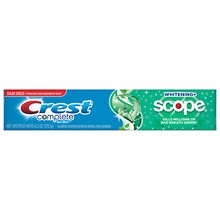 Complete Multi-Benefit Whitening + Scope Fluoride Toothpaste Minty Fresh Striped