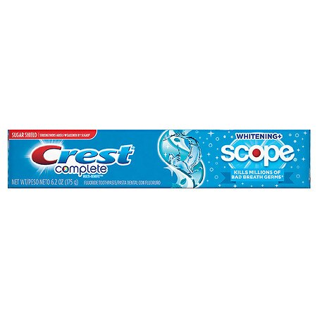 Crest Complete Multi-Benefit Whitening + Scope Toothpaste Cool Peppermint