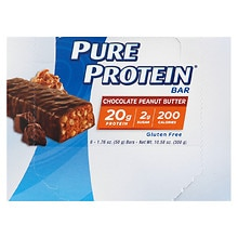 Pure Protein High Protein Bars 6 Pack Chocolate Peanut Butter