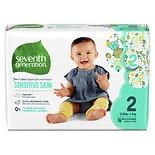 Seventh Generation Baby Free & Clear Diapers Stage 2, 12-18 lbs