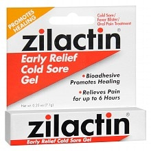 Zilactin Cold Sore Relief Gel