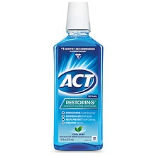 ACT Restoring Restoring Anticavity Fluoride Mouthwash Cool Splash Mint