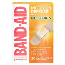 Band-Aid Plus Antibiotic Plus Antibiotic Adhesive Bandages Assorted Sizes