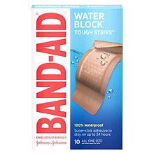 Band-Aid Tough-Strips 100% Waterproof Adhesive Bandages Extra Large