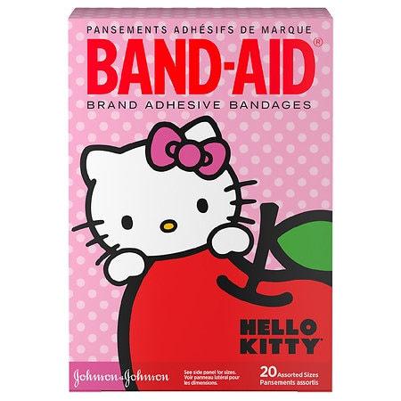 Band-Aid - Children's Hello Kitty Adhesive Bandages Assorted Sizes