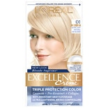 L'Oreal Excellence Triple Protection Permanent Hair Color Creme Extra Light Ash Blonde 01