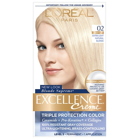 L'Oreal Paris Excellence Creme Haircolor Extra Light Natural Blonde 02