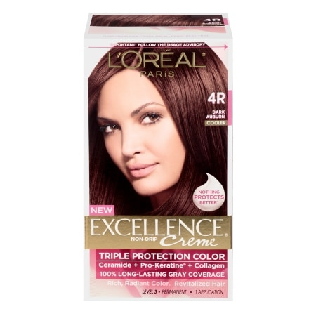 L'Oreal Paris Excellence Creme Haircolor Dark Auburn 4R Cooler