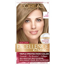 L'Oreal Paris Excellence Triple Protection Permanent Hair Color Creme Dark Blonde 7