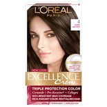 L'Oreal Excellence Triple Protection Permanent Hair Color Creme Dark Brown 4