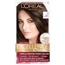 Triple Protection Permanent Hair Color Creme, Dark Brown 4