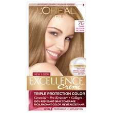 L'Oreal Paris Excellence Triple Protection Permanent Hair Color Creme Dark Golden Blonde 7G