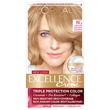 Triple Protection Permanent Hair Color Creme, Medium Golden Blonde 8G