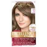 L'Oreal Excellence Triple Protection Permanent Hair Color Creme Light Ash Brown 6A