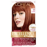 L'Oreal Excellence Triple Protection Permanent Hair Color Creme Light Auburn 6R
