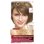 L'Oreal Paris Excellence Triple Protection Permanent Hair Color Creme Light Brown 6