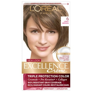 L'Oreal Excellence Creme Haircolor, Light Brown 6